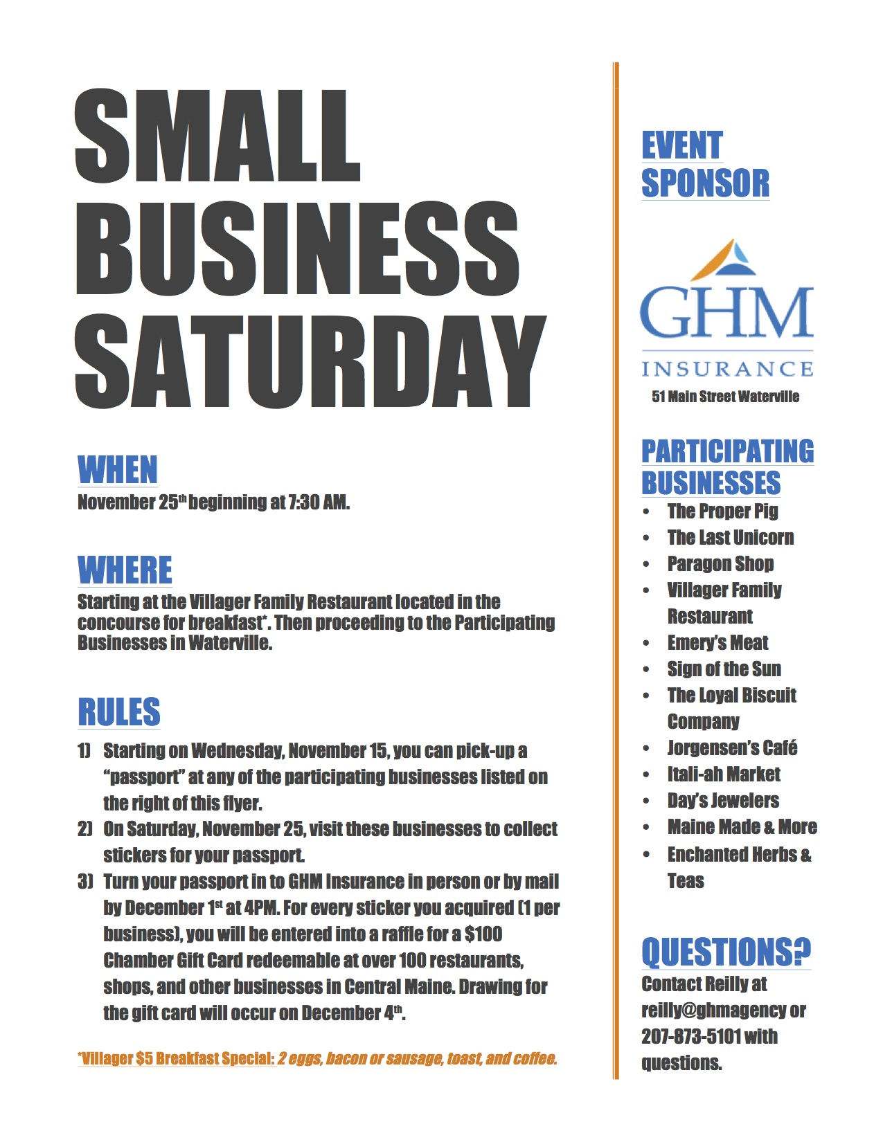Ghm Insurance Blog Small Business Saturday 2017